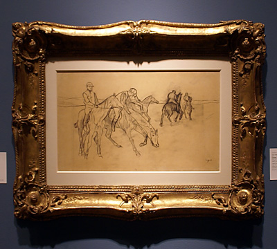 Study of racehorses by Degas