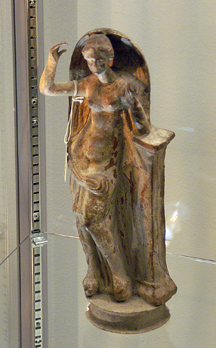 Greek terracotta figure