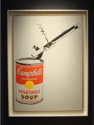 """Big Campbell's Soup Can with Can Opener"" by Warhol"