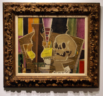 """Balustre et crane (recto)"" by Braque"