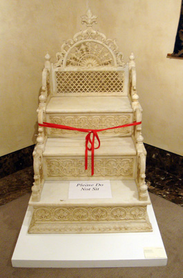 White marble throne