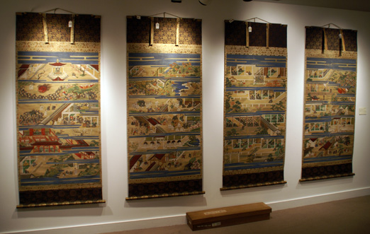 Set of hanging scrolls on the Life of monk Shinran