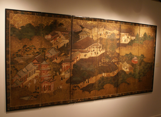 6-panel screen of Kiyomizu Temple