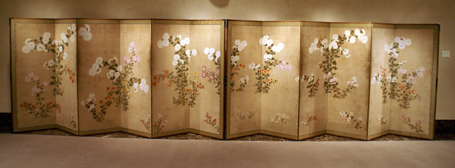 Pair of six-panel screens of the Sotatsu School