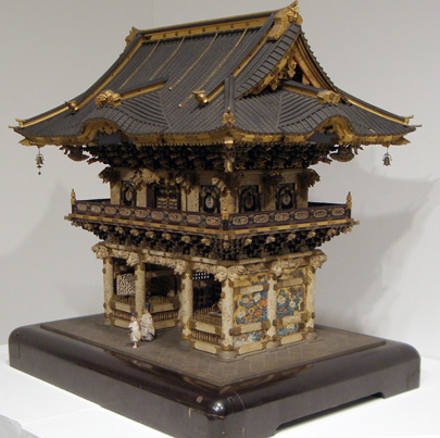 Architectural model of the Yomeimon Gate of Toshogu Shrine in Nikko