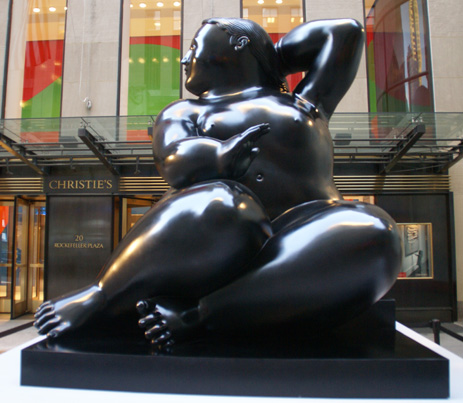 """Seated Woman"" by Botero"