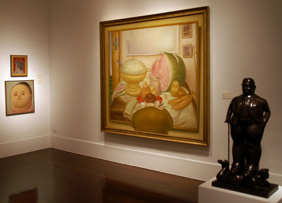 Several works by Botero