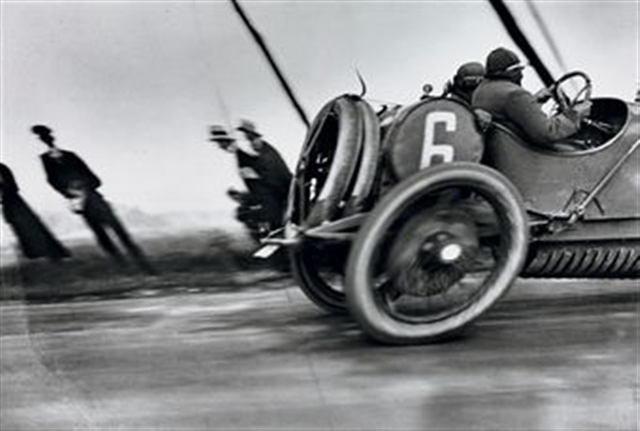 """Grand Pri de l""A.C.F., automobile Delage"" by Lartigue"