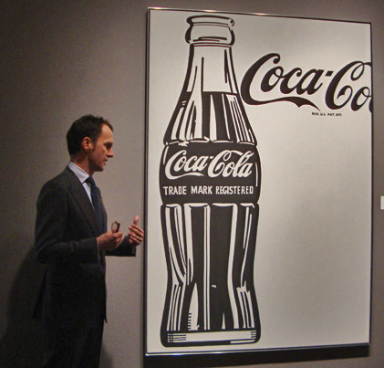 Tobias Mehyer with Coca-Cola (4) by Warhol