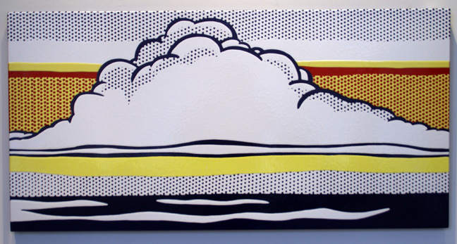 """Cloud and sea"" by Roy Lichtenstein"