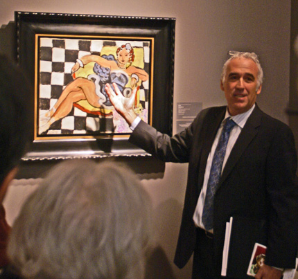 "David Norman of Sotheby's discussing Matisse's ""Danseuse"""