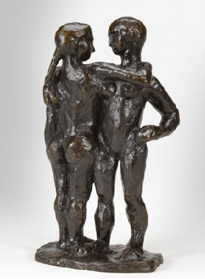 Sculpture of a couple by Matisse