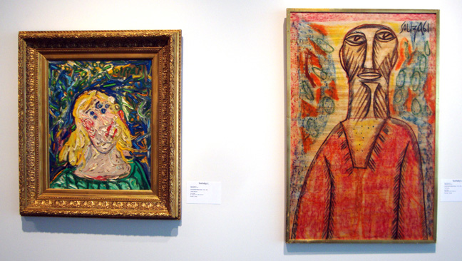 """Untitled (Barbara) by Souza, left; ""The Prophet,"" by Souza, right"
