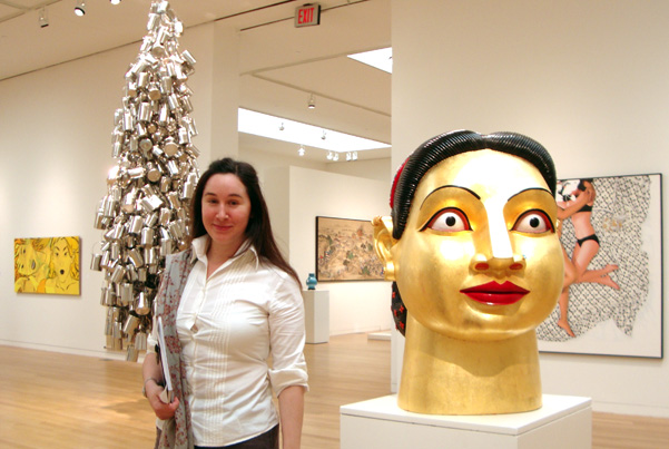 Zara Porter-Hill of Sotheby's with contemporary Indian art
