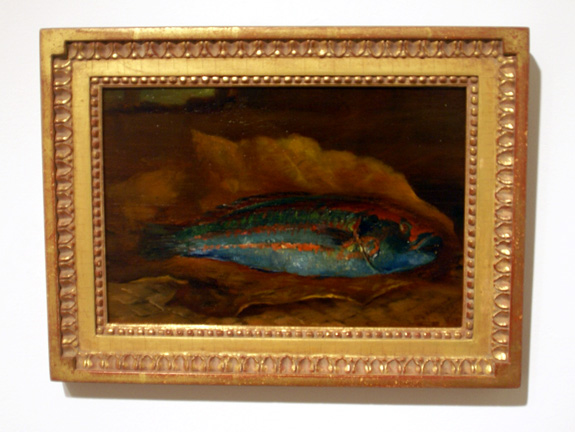 La Farge blue fish