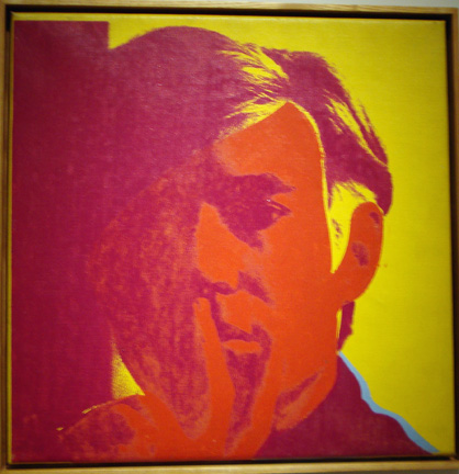 Self-portrait by Warhol