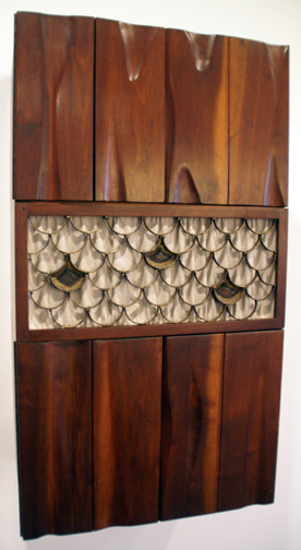 Wall mounted cabinet by Phillip Lloyd Powell and Paul Evans