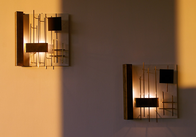 Pair of wall lights by Gia Ponti