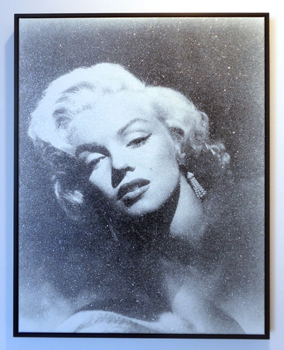 """Marilyn Glamour (B + W)"" by Russell Young"