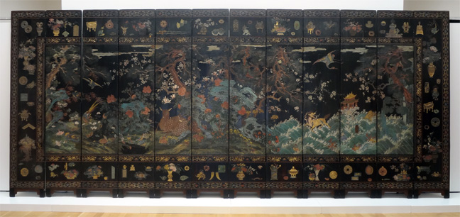Qing Dynasty, Kangxi Period coromandel screen