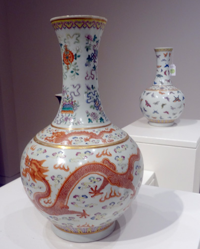 "Famille-rose ""dragon and phoenix"" vase"