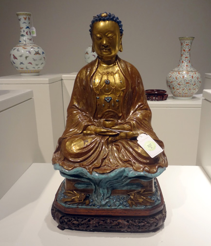 Seated figure of Buddha