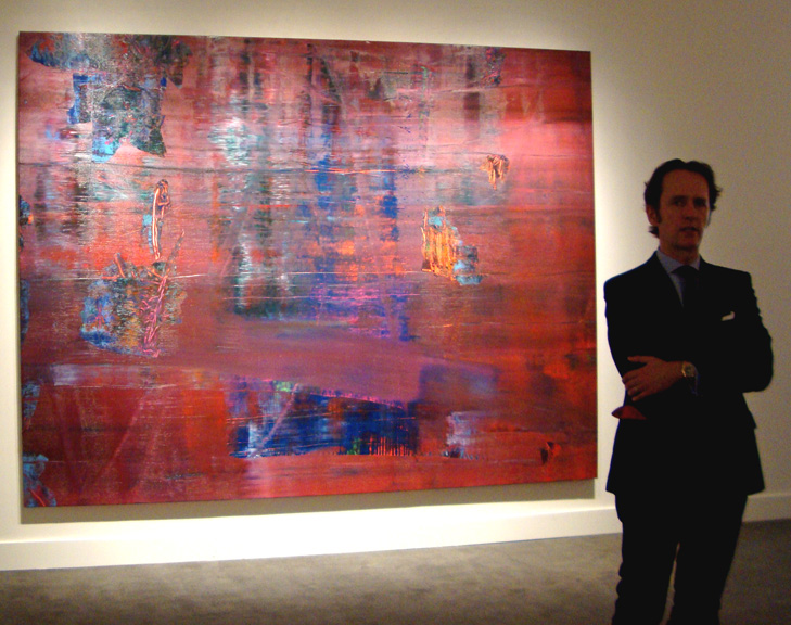 "Tobias Meyer with Richter's ""Abstraktes Bild"""