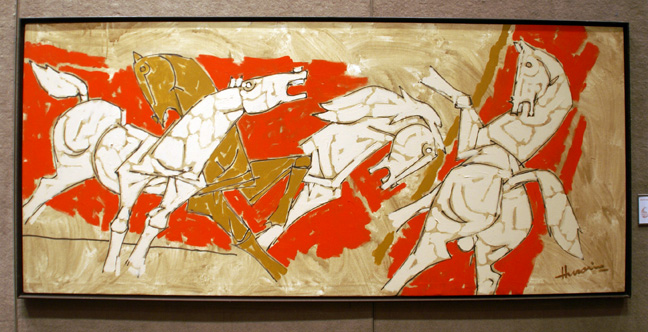 """Untitled (Horses)"" by Husain"