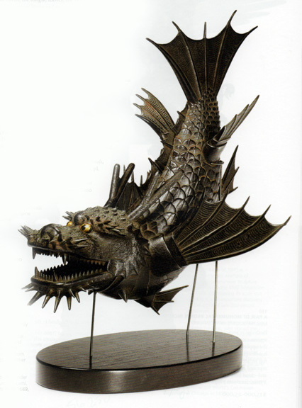 Articulated model of dragon fish