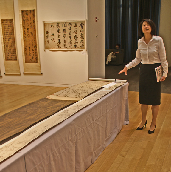 Iris Miao discussing scroll