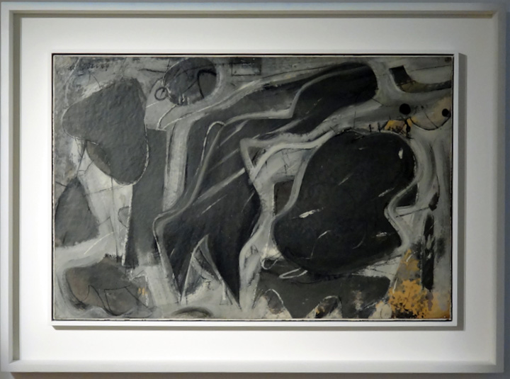 """Black and gray composition"" by De Kooning"