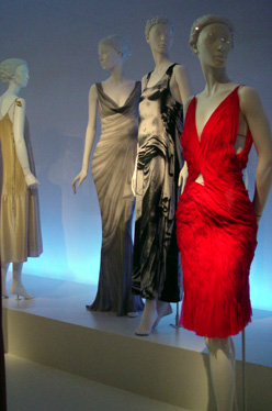 Red evening dress by Tom Ford for Yves St. Laurent Rive Gauche