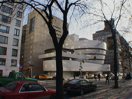 The Solomon R. Guggenheim Museum on Fifth Avenue at 89th Street