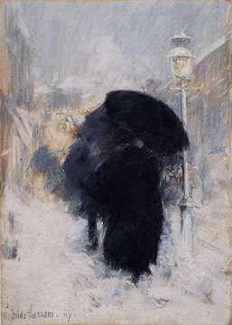 """A New York Blizzard"" by Childe Hassam"