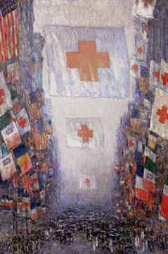 """Red Cross Drive, May 1918 (Celebration Day)"" by Hassam"