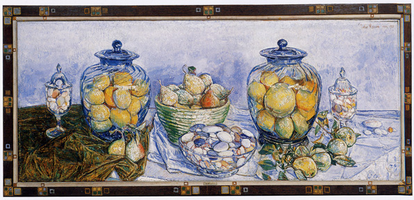 """Long Island Pebbles and Fruit"" by Hassam"