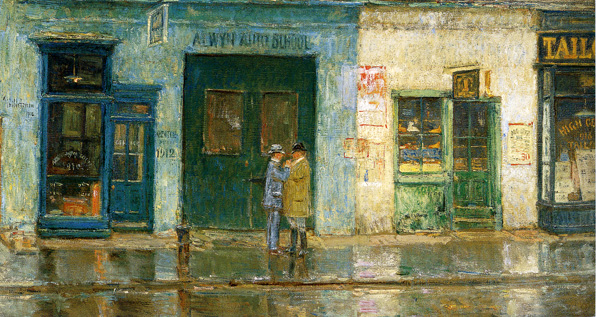 """The Little Cobbler's Shop"" by Hassam"