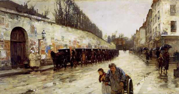 """Une Averse - rue Bonaparte"" by Hassam"
