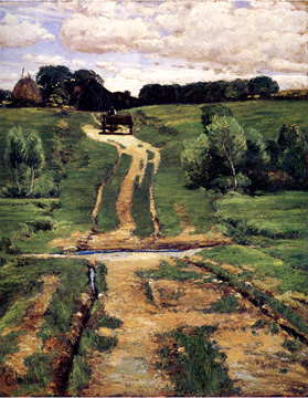 """A Back Road,"" by Hassam"