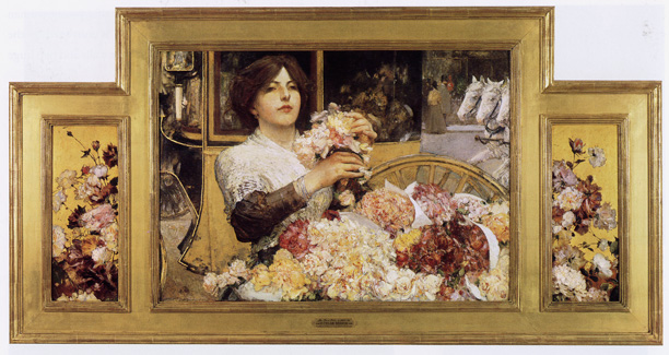 """The Rose Girl"" by Hassam"