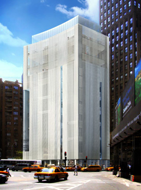 Allied Works Architecture's rendering of redesign of 2 Columbus Circle