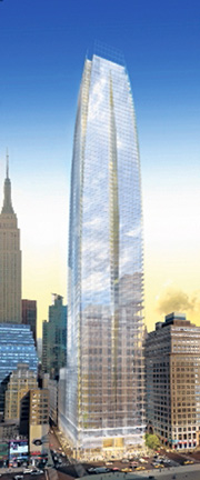 Rendering of Vornado's 15 Penn Plaza