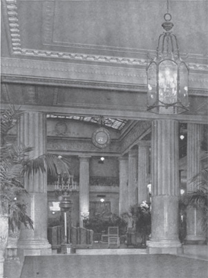 Photograph of interior in March 1919 issue of The Architecture Review