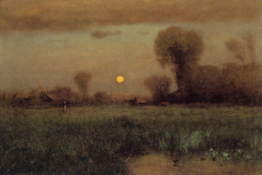 """Harvest Moon"" by George Inness"