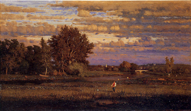 """Clearing Up"" by George Inness"