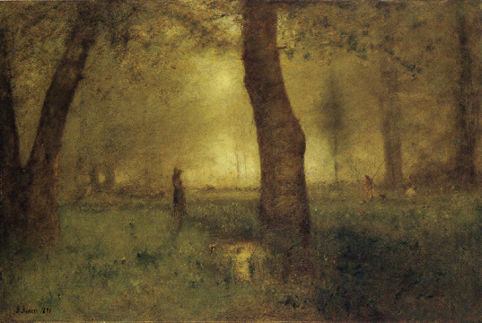 """The Trout Brook"" by George Inness"