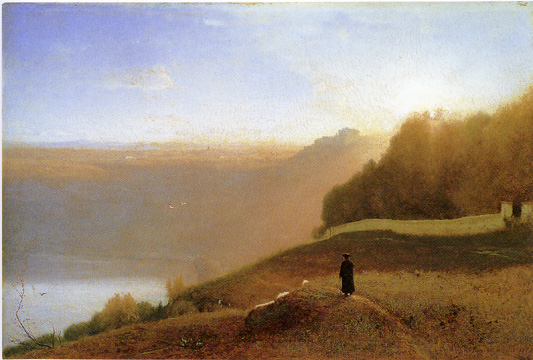 """Lake Nemi"" by George Inness"