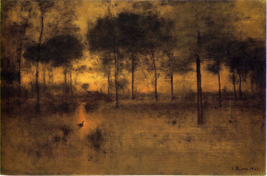 """Home of the Heron"" by George Inness"