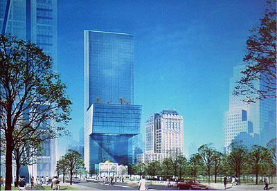 Rendering of planned JPMorgan Chase tower