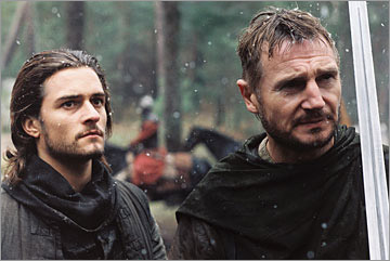 Orlando Bloom and Liam Neeson